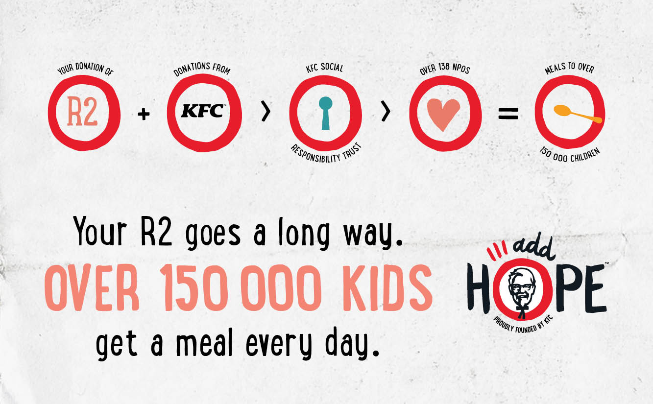 kfc add hope helping kids get a meal every day