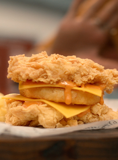 kfc crunch double down